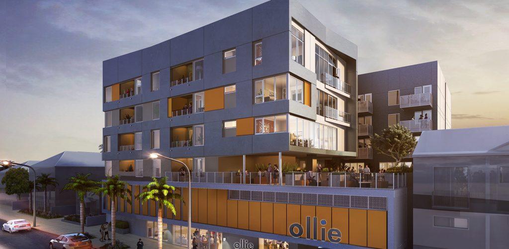 Ollie North Park Apartments - Evening Render
